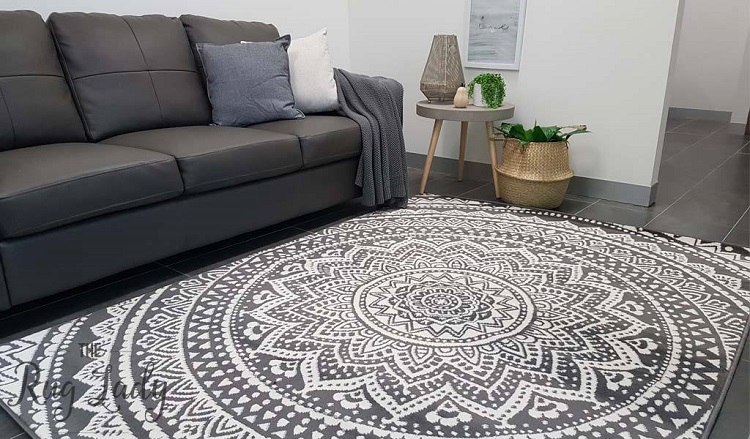 Mandala-Grey-White