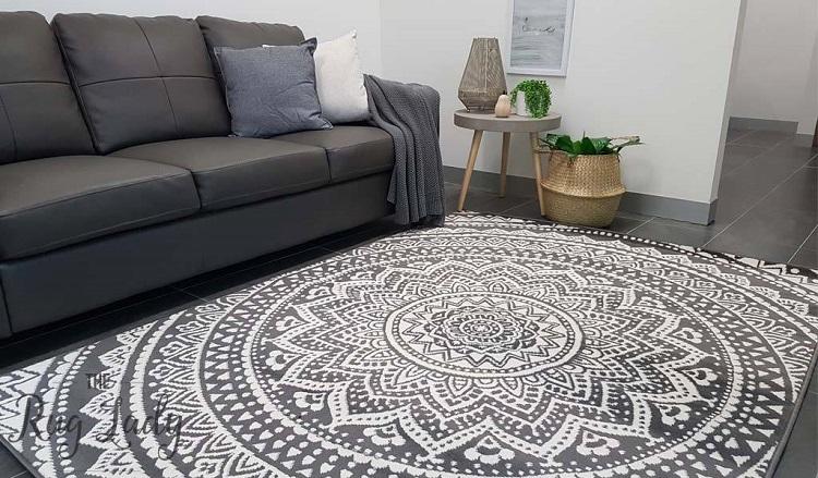 Mandala-Grey-White